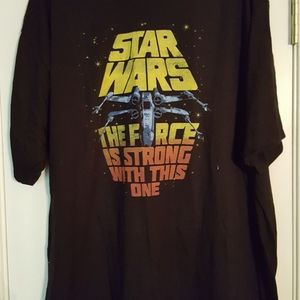 "NWT Star Wars XXL shirt ""Strong with this one"""